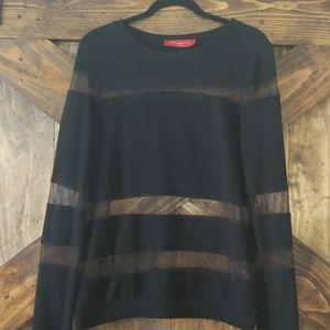 Akira semi-sheer sweater